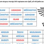 Sudoku - vježbe za vjeronauk