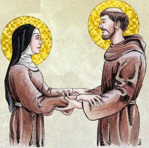 sv. Klara i sv. franjo