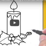 Kako nacrtati  adventsku svijeću