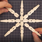 Božićna zvijezda od štipalica - video upute