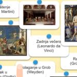 Isusov život u umjetnosti - on-line vježba za vjeronauk