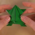 Žaba koja visoko skače - origami za vjeronauk