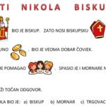 Sveti Nikola - radni list za učenike s poteškoćama 2. razred
