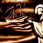 Sveti Nikola - crtanje u pijesku