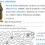 Isus poziva apostole - vjeronauk radni list