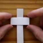 Kako napraviti križ od papira - origami