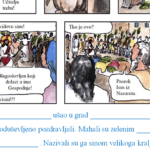 Cvjetnica - radni list sa stripom