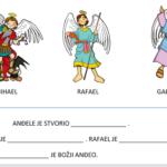 Anđeli - radni list za učenike s poteškoćama u učenju