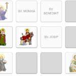 Sveci Katoličke crkve - učenje kroz igru memory
