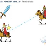 Sveti Martin - spoji iste slike (za učenike s poteškoćama)
