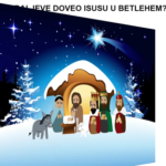 Božić - blagdan Isusova rođenja flip-card