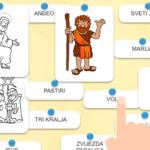 Djelovi jaslica - interaktivna igra