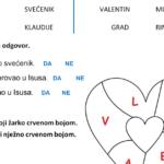 Sveti Valentin - radni list za učenike s poteškoćama