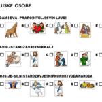 Biblijske osobe - radni list (označi sliku)