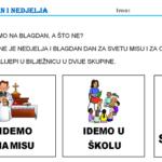 Kako slavimo blagdane? - digitalni materijal i radni list za prvi razred