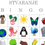 Stvaranje svijeta - bingo za vjeronauk u prvom razredu