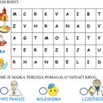 Majka Terezija – radni list i digitalne vježbe za prvi razred